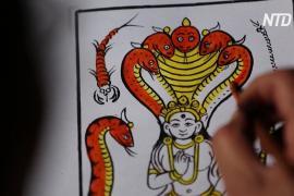 Непальские художники-читракары стараются сохранить традиционное искусство