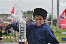 На Урале казаки со всей России показали умение владеть шашкой