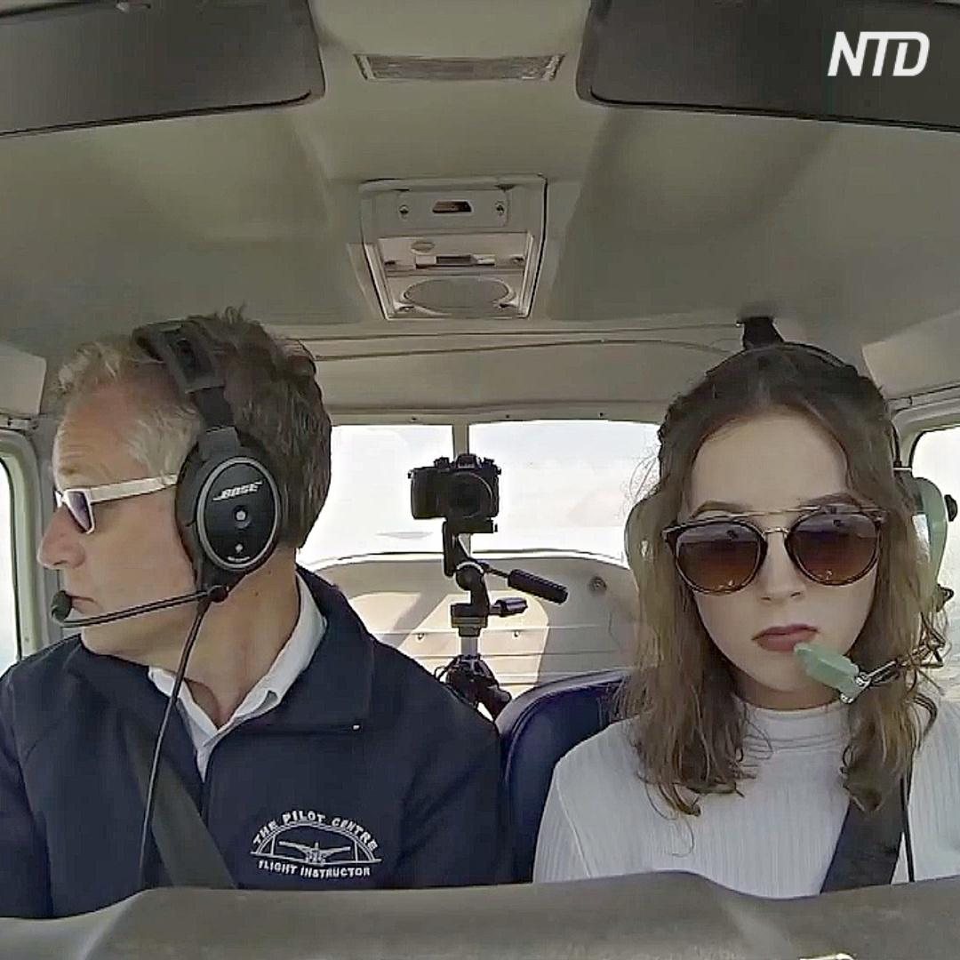 Самый юный соло-пилот Великобритании – 16-летняя Элли Картер