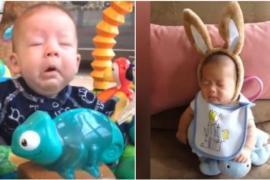 Малыши чихают. Очень смешное видео!