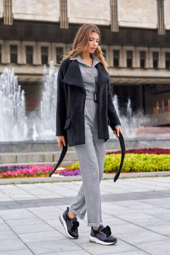 Ukorochennoe palto Dominika - Jadone Fashion – женская одежда оптом