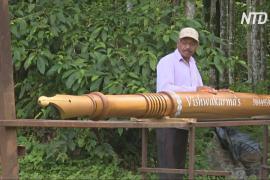 Индиец сделал деревянную ручку-перо длиной почти шесть метров