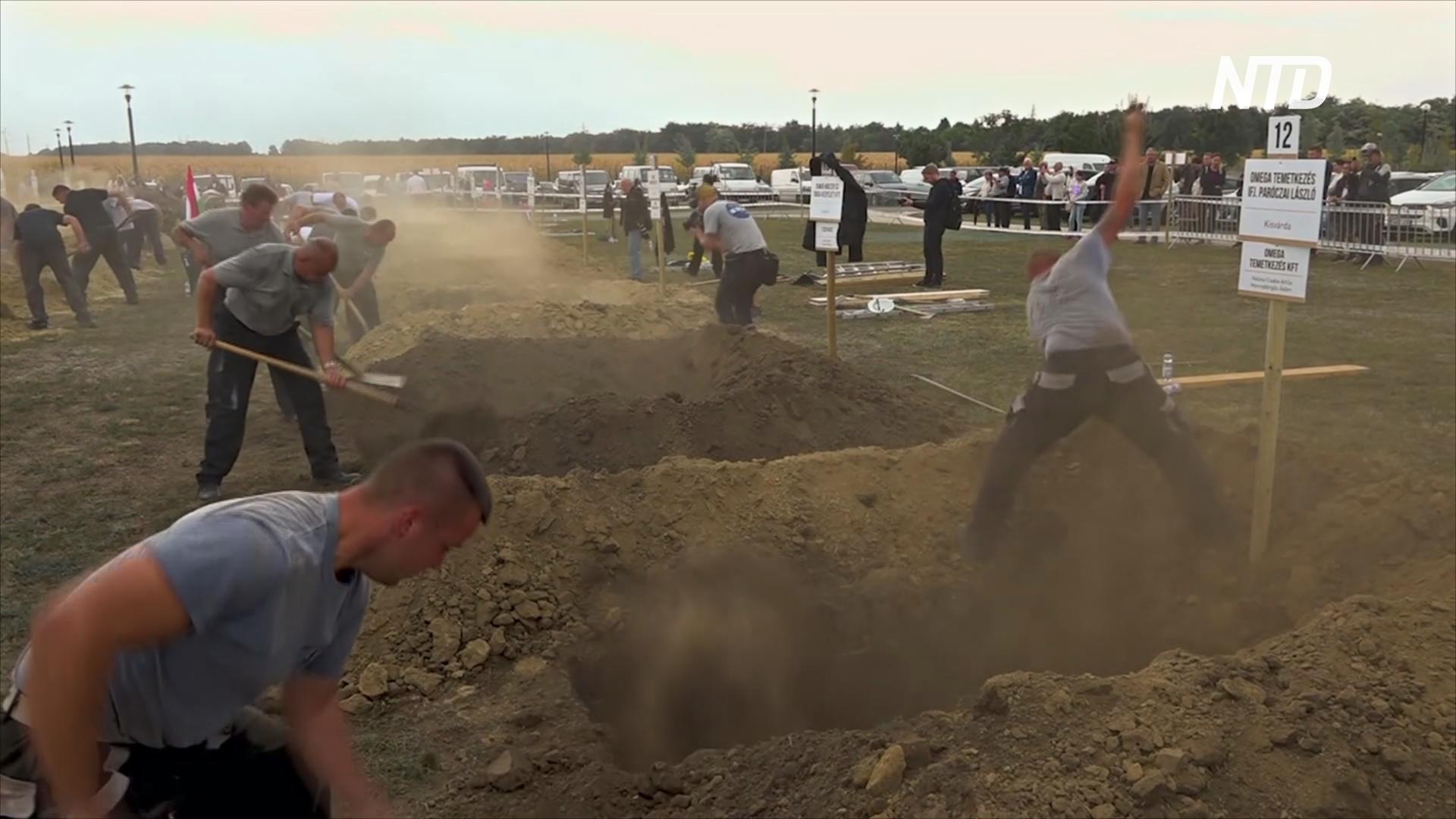Выкопать идеальную могилу: необычное соревнование в Венгрии