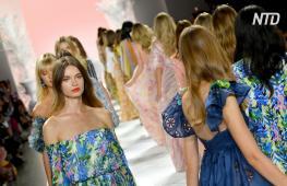 Карибский гламур показал Badgley Mischka на Неделе моды в Нью-Йорке