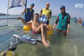 Купание в инвалидном кресле: как в Марокко подумали о людях с ограниченными возможностями