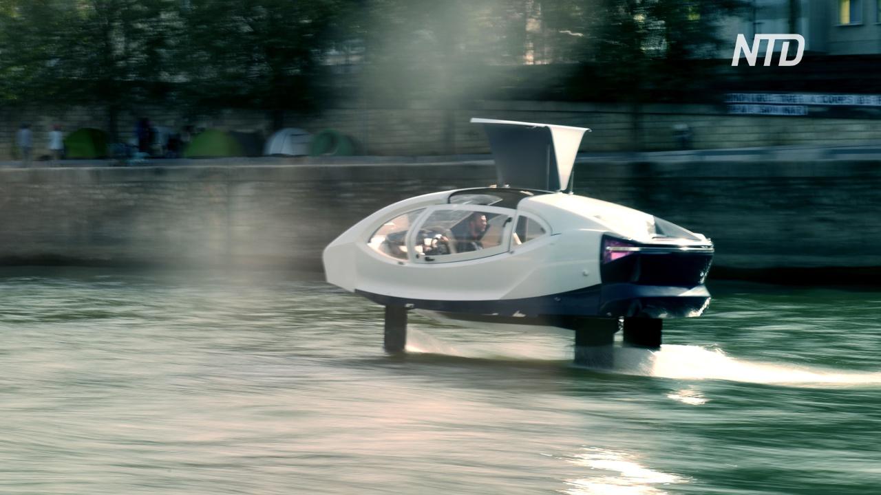 На Сене испытали «летающие такси»