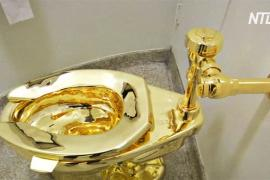 Золотой унитаз стоимостью более $1,2 млн украли в Великобритании