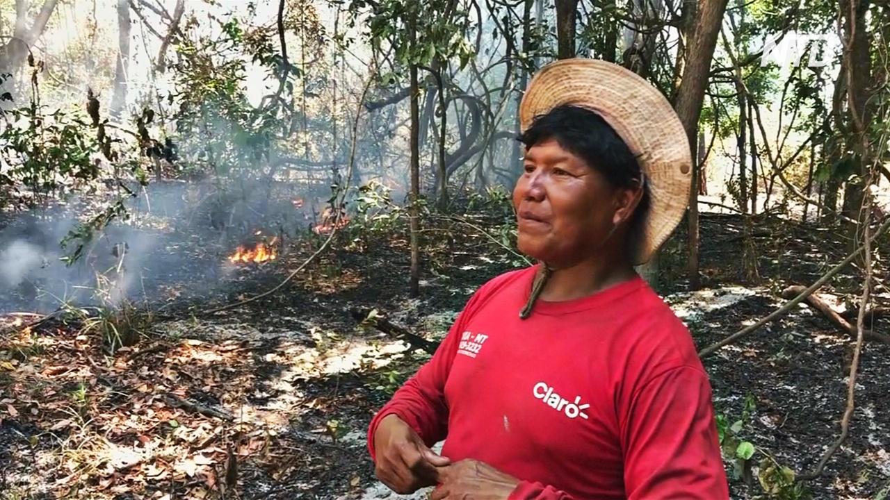 Пожары в Амазонке угрожают местным племенам