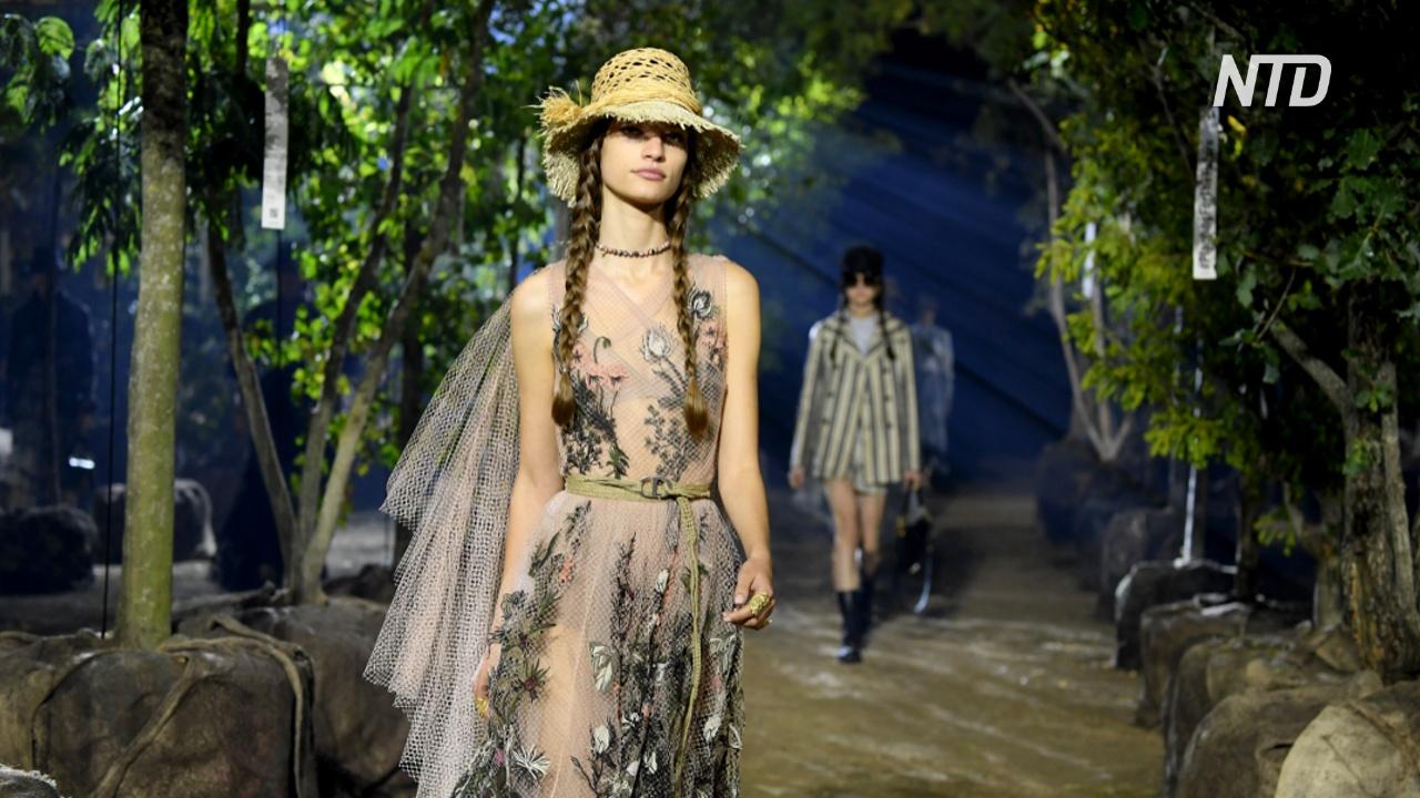 Показ Dior: одуванчики и чертополох в коллекции весна-лето 2020