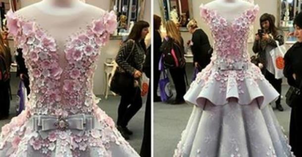 Свадебное платье от кутюр оказалось тортом