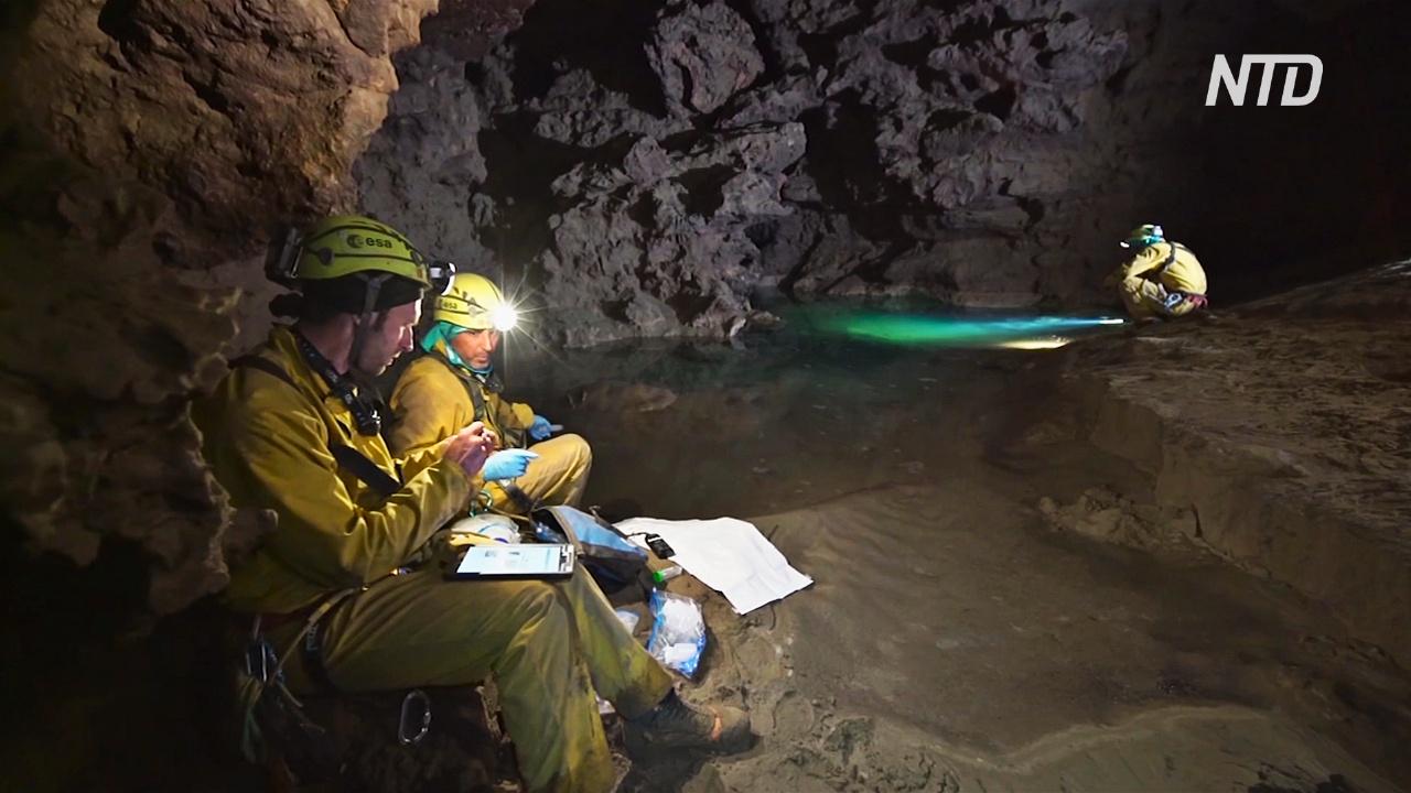 Почти как в космосе: шесть астронавтов провели в пещере неделю