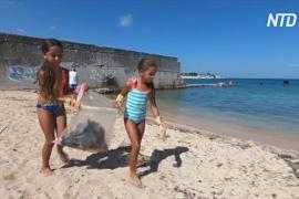 Активисты очищают пляжи Гаваны от мусора