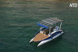 Катер на солнечных батареях: новый транспорт на Лазурном берегу