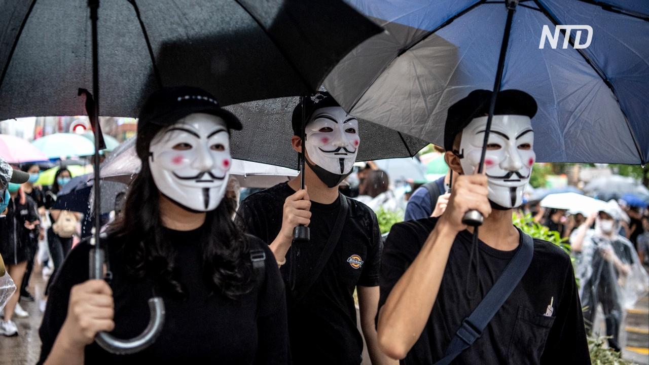 Протестующим Гонконга запретили надевать маски, но это их не остановило