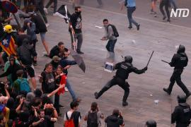 Тысячи каталонцев протестуют после приговора девяти сепаратистским лидерам