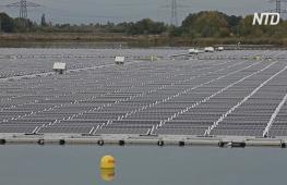 Крупнейшая в Европе плавучая солнечная электростанция заработала во Франции