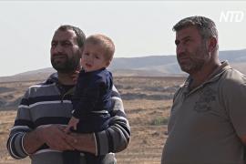 Курдские беженцы ждут возможности перейти из Сирии в Ирак