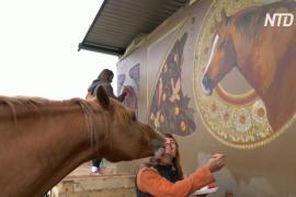 Русские художники запечатлели красоту донских лошадей