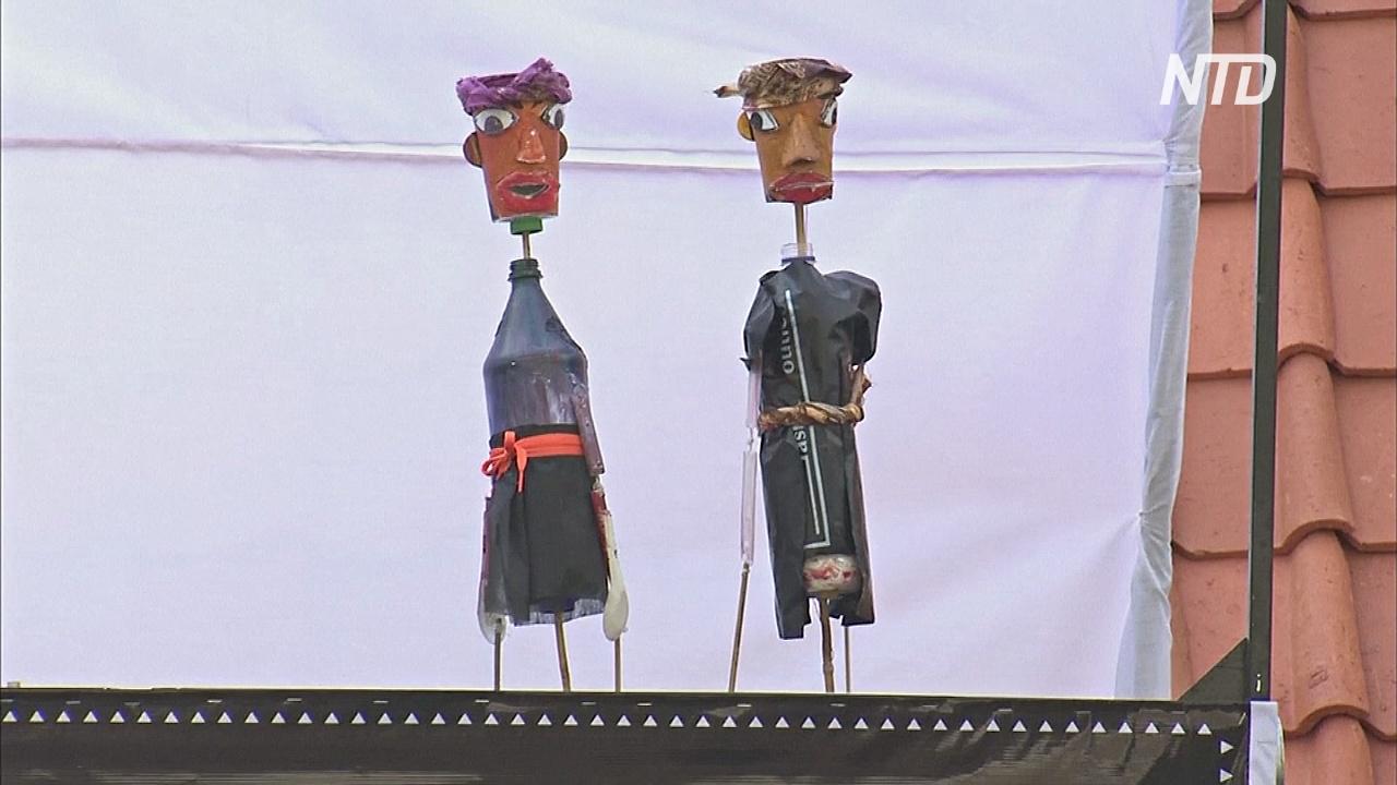 Пластиковые куклы учат детей не мусорить
