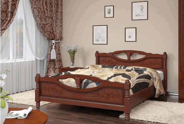 Кровать Елена- 4 орех