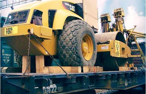 Перевозка железной дорогой спецтехники и автомобилей
