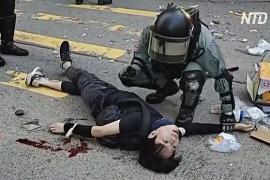 Полиция Гонконга стреляет в протестующих
