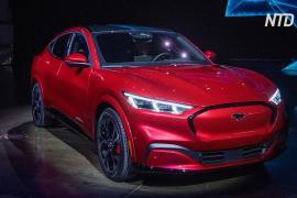 Ford представил электрический кроссовер Mustang Mach E