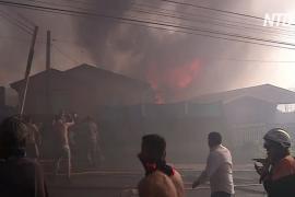 Чили: из-за пожаров вокруг Вальпараисо эвакуируют жителей