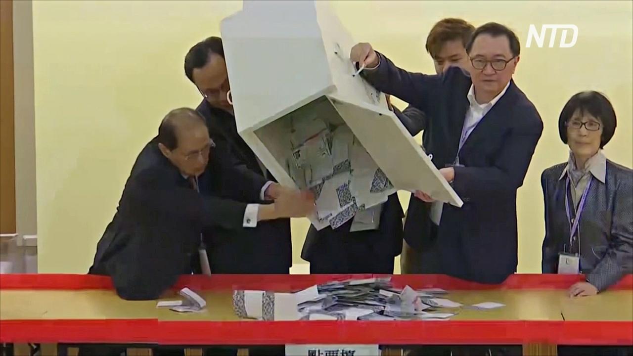 Выборы в Гонконге: демократические силы празднуют победу над пропекинскими