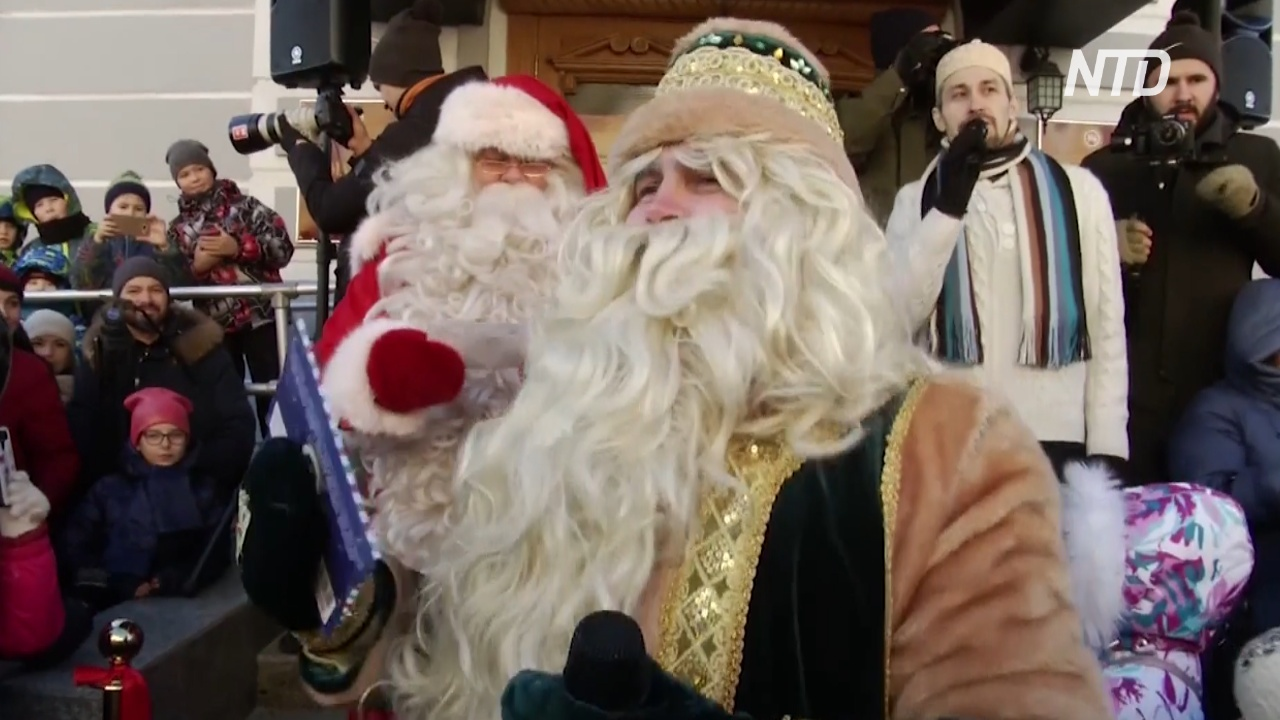 К Кыш Бабаю в Татарстан приехали Дед Мороз, Йоулупукки и Кикимора