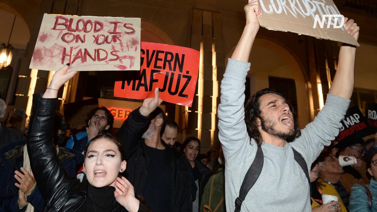 Мальтийцы массово требуют отставки премьера