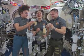 Астронавты на МКС показали свои космические угощения на День благодарения