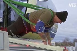 Австриец сдвинул с места 1500-тонное колесо обозрения в Мюнхене