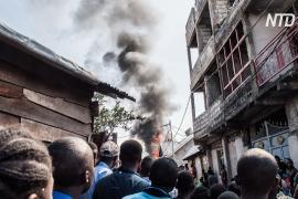 В ДР Конго самолёт рухнул на жилой квартал, 29 человек погибли