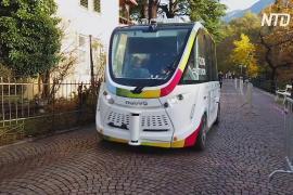 В итальянском городке Мерано испытывают беспилотный автобус