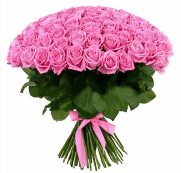Букет Розалия из 101 розовой розы