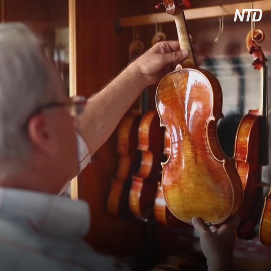 Мастер из Северной Македонии сам научился делать скрипки
