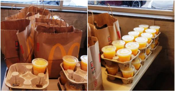 Щедрые парни угощают в «Макдональдс» по выходным