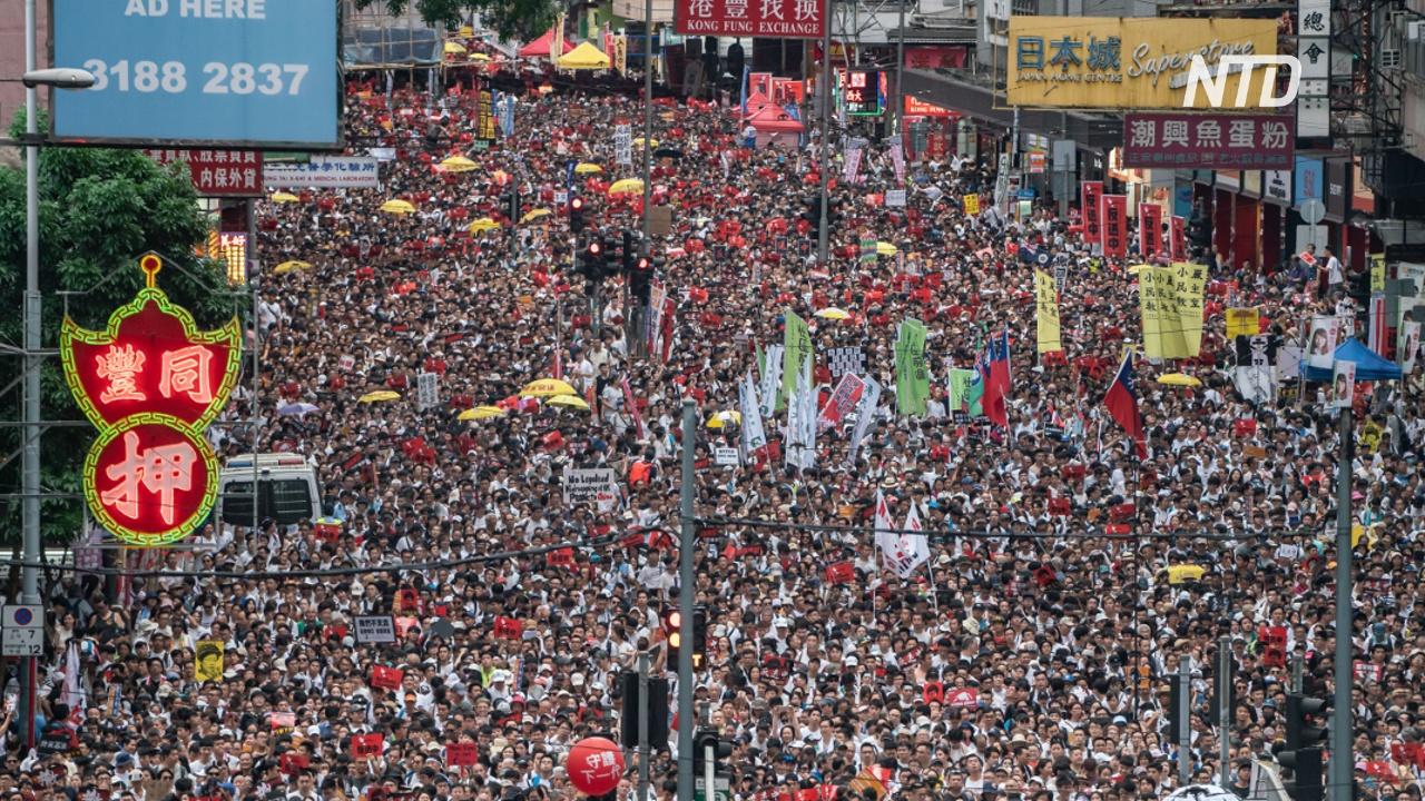 Полгода протестов: в Гонконге прошла самая массовая акция за несколько месяцев