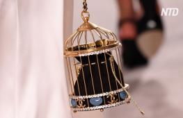 Сумки в виде клеток для птиц и много блеска: новая коллекция Chanel