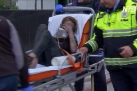 Пожарные спасли 20 человек из горящего отеля в центре Афин