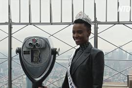 «Мисс Вселенная 2019» посетила обзорную площадку Эмпайр-стейт-билдинг