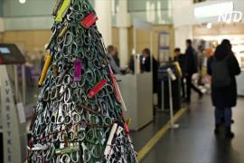 Ёлка из ножниц: в аэропорту Вильнюса напомнили о правилах провоза багажа