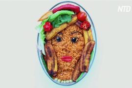 Вкусные картины: нигерийка рисует приправами и злаками