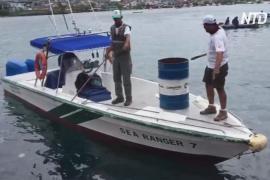 У Галапагосов затонула баржа с 2000 тонн дизельного топлива