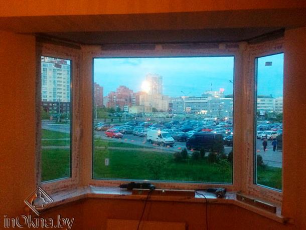 Эркерное окно ПВХ изнутри