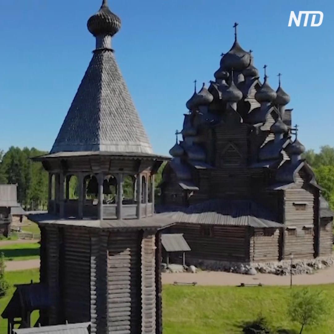 Как строили зодчие Русского Севера показывают в этнопарке под Петербургом