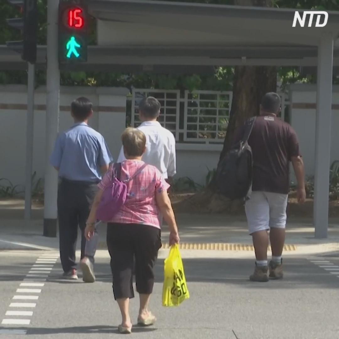 В Сингапуре светофоры горят зелёным дольше для пожилых