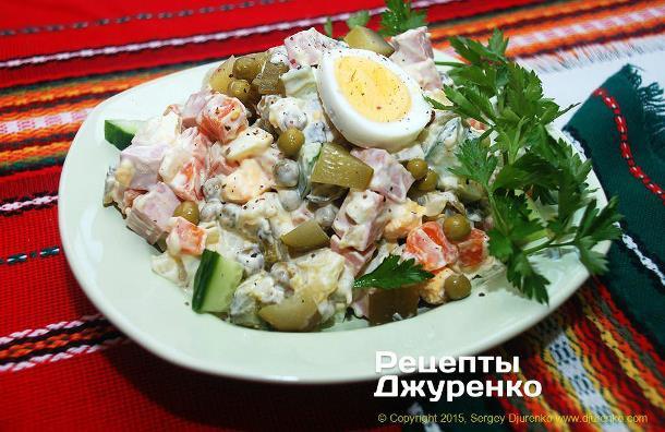 Рецепты Джуренко - Салат оливье