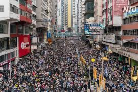 Масштабный протест в первый день 2020 года прошёл в Гонконге